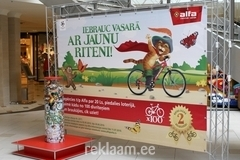 Alfa keskuse reklaam taustasein