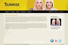 Sunrise Management koduleht ja logo