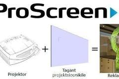 Klaasile paigaldatava tagantprojektsiooni lahenduse skeem.