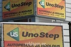 Autopesula, UnoStep; reklaam maja seinal