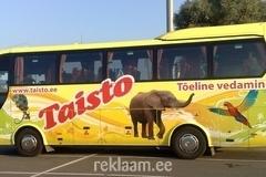 Taisto Bussid - kleebisreklaam bussile