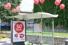 EMT välireklaam bussipeatuses