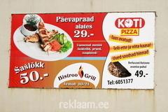 Koti pizza reklaamkonstruktsioon