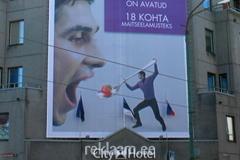 Suur reklaampind Kristiine reklaamiga
