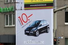 Reklaampind taksopargi ristis