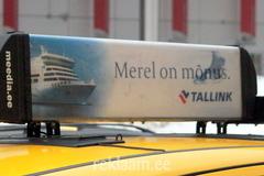 Tallinki reklaam takso katusel