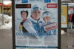 MK etapp Otepääl - reklaam bussipeatuses