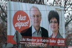 Eiki Nestor / Katrin Saks - valimisreklaam