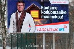 IRL valimisreklaam - Haldo Oravas