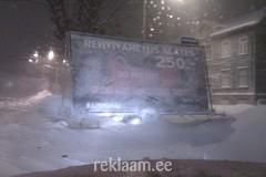 Kummihai reklaam lumetormis