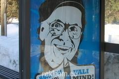 Valimind.ee reklaam bussipeatuses