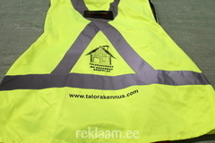 MK Rakennus ohutusvest trükiga.