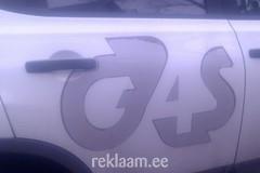 G4S ebakvaliteetne reklaamkleebis