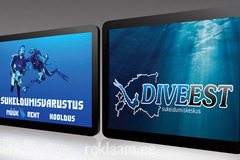 Sukeldumiskeskuse reklaamkleebised