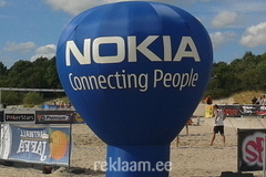 Nokia reklaampall rannas