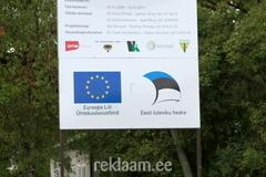 EU toetuse logoga reklaamtahvel