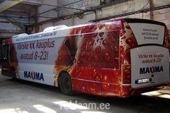 Maxima reklaambuss Kohtla-Järvel