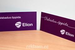 Elioni logoga PVC sildid