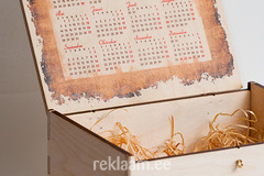 Puidust kinkekarp kalendriga