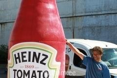 Täispuhutav Heinz ketšupi pudel, 3,5m
