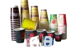 kohvitopsid trükiga, mitmekihilised