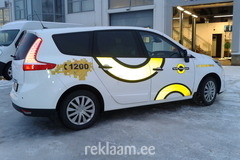 Tartu Taksopark, Renault Grand Scenic mustast valgeks