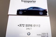 Transporter kahepoolne visiitkaart