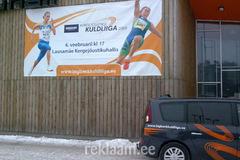 Kuldliiga 2009 reklaamplagu seinal