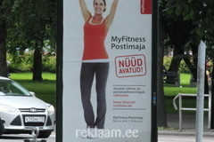 My Fitness Postimaja reklaam