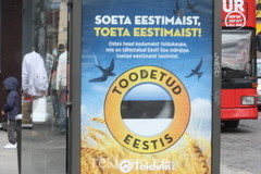 Soeta eestimaist reklaam bussipeatuses