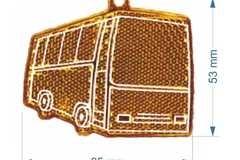 Plastik helkur Buss