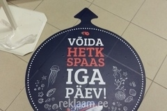Reklaamkleebised põrandal