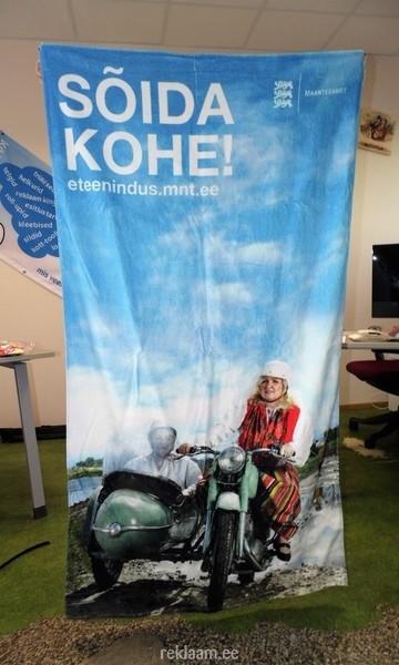 Maanteeameti tekstiilist reklaambänner
