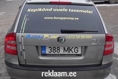 Reklaamkleebised auto tagaaknal