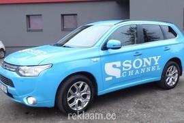 Auto reklaamkleebised - Sony Channel