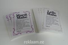 Tooteetiketid - Mardi Mahe/Lelle Mahe