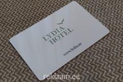 Logoga uksekaart - Hotell Lydia