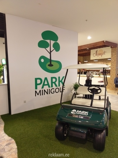 Park minigolf reklaam