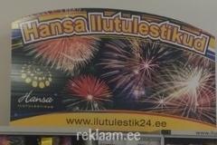 Reklaamsilt - Hansa ilutulestikud