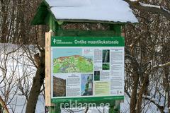 Puidust infostend - Ontika maastikukaitsealal