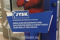 Erikujuline kahepoolne reklaam - Jysk