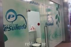 Reklaamkleebsied klaasil - Pesukoda