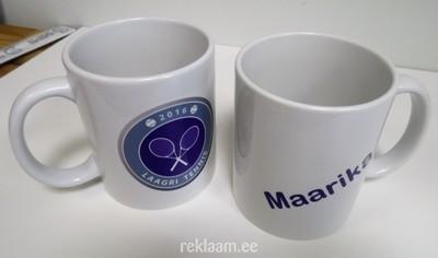 Logoga kohvikruus - Laagri Tennis