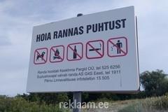 Hoiatussilt, hoia rannas puhtust