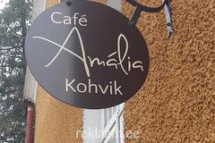 Kahepoolne reklaamsilt - Cafe Amalia