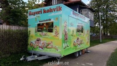Disainitud müügihaagis - Bayeri kohvik