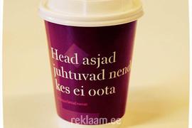 Reklaam kohvitopsil