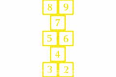 Põrandakleebis keksukast (kollane)