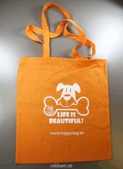 Poekott, värviline Happy Dog