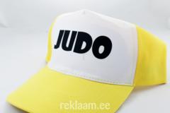 Nokamüts JUDO, kollane/valge